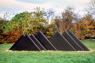 Untitled, ©1977<br>Precast concrete with integral color. &lt;br&gt;&#xA;54h x 48w x 216d (inches) &lt;br&gt;&#xA;Photo by unknown &lt;br&gt;&#xA;Private commission, Gladwyne, Pennsylvania